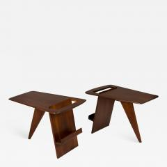 Pair of Wedge Top Magazine Tables by Jens Risom - 777252