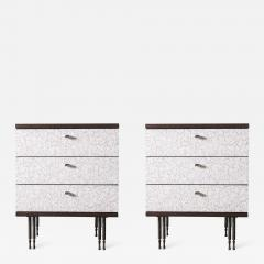 Pair of Wheeler Nightstands Designed Made by Andy Messenger - 1326827