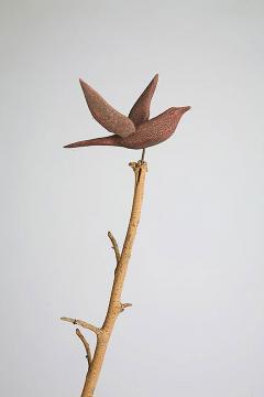 Pair of Whirligig Decorative Birds on Sticks - 133204