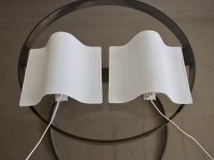 Pair of White Lacquered Perforated Metal Wall Lamps by Lindau Lindekrantz - 1506290