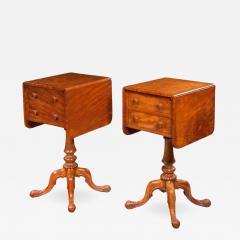 Pair of William lV Satinwood bedside or deception tables - 816094