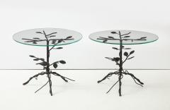 Pair of Wrought Iron End Tables - 1155159