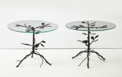 Pair of Wrought Iron End Tables - 1155170