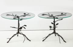 Pair of Wrought Iron End Tables - 1155173