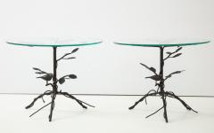 Pair of Wrought Iron End Tables - 1155191