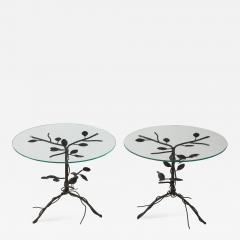 Pair of Wrought Iron End Tables - 1155639