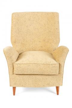 Pair of Yellow Italian Midcentury Style Lounge Chairs - 1096092