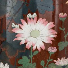 Pair of antique Meiji period Japanese cloisonne enamel vases - 2035745