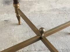 Pair of bronze pedestal tables with glass trays France 1960 - 1022882
