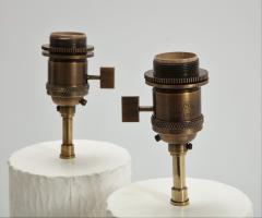 Pair of brutalist Bougies plaster lamps by Facto Atelier Paris France 2020 - 1843295