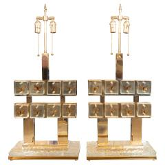Pair of butterfly gallery table lamps - 1306577