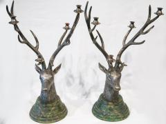 Pair of candlesticks in silvered bronze French Work circa 1950 - 1094239