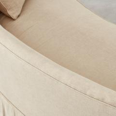 Pair of curved banana skirted sofas USA 1970s - 1563900