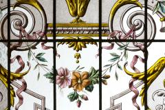 Pair of double stained glass windows and their transoms circa 1880 - 1205622