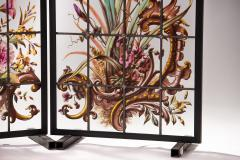 Pair of enameled stained glass panels France circa 1880 - 1460498
