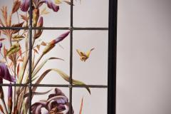 Pair of enameled stained glass panels France circa 1880 - 1460501