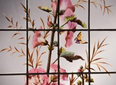 Pair of enameled stained glass panels France circa 1880 - 1460502