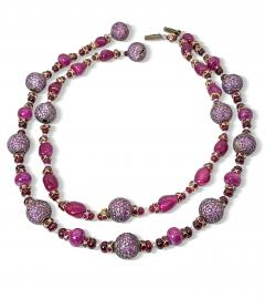 Pair of fantastic Ruby Bead Necklaces - 2051875