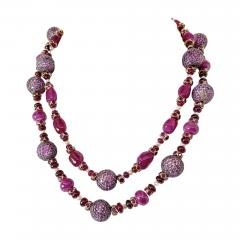 Pair of fantastic Ruby Bead Necklaces - 2081493