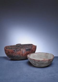 Pair of folk art wood bowls Sweden - 841240