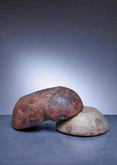 Pair of folk art wood bowls Sweden - 841241
