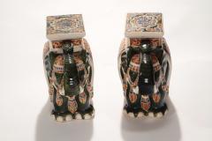 Pair of french hollywood regency Porcelain Elephant Decoration 1970s - 983434