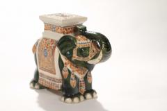 Pair of french hollywood regency Porcelain Elephant Decoration 1970s - 983435