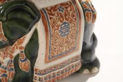Pair of french hollywood regency Porcelain Elephant Decoration 1970s - 983438