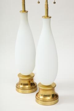Pair of frosted Murano Glass lamps - 1901144