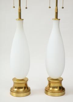 Pair of frosted Murano Glass lamps - 1901145