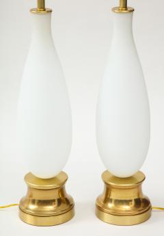 Pair of frosted Murano Glass lamps - 1901146