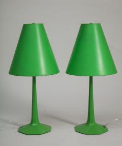 Pair of fun 1970s green lamps - 1388108