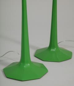 Pair of fun 1970s green lamps - 1388114