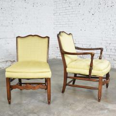 Pair of georgian revival his and hers accent chairs in golden yellow - 1682275