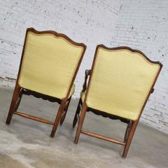 Pair of georgian revival his and hers accent chairs in golden yellow - 1682280