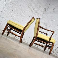 Pair of georgian revival his and hers accent chairs in golden yellow - 1682282