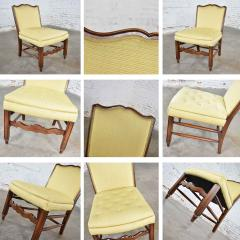 Pair of georgian revival his and hers accent chairs in golden yellow - 1682310
