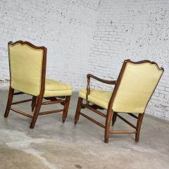 Pair of georgian revival his and hers accent chairs in golden yellow - 1682311