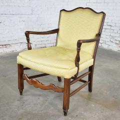 Pair of georgian revival his and hers accent chairs in golden yellow - 1682312