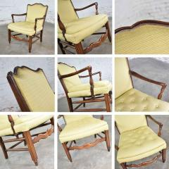 Pair of georgian revival his and hers accent chairs in golden yellow - 1682313