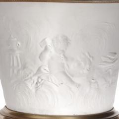 Pair of gilt bronze mounted krater form bisque porcelain vases - 1569828