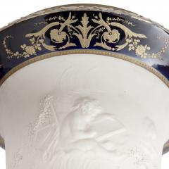 Pair of gilt bronze mounted krater form bisque porcelain vases - 1569829