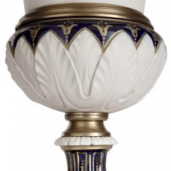Pair of gilt bronze mounted krater form bisque porcelain vases - 1569830