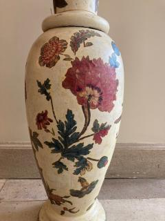Pair of italian 18th century arte povera vases - 1850818