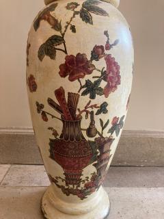 Pair of italian 18th century arte povera vases - 1850819