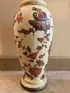 Pair of italian 18th century arte povera vases - 1850820