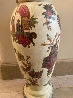 Pair of italian 18th century arte povera vases - 1850821