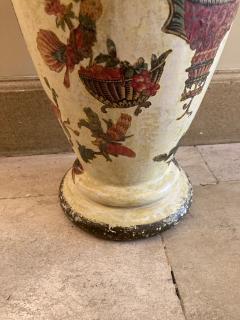 Pair of italian 18th century arte povera vases - 1850822