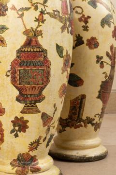 Pair of italian 18th century arte povera vases - 1850823