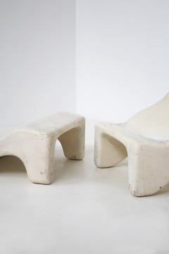Pair of italian lounge chairs red and white by Cesare Augusto Nava 1970s - 1576345